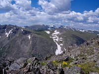 Looking South from the Chapin Summit