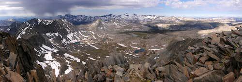 Kuna Peak Summit Pano Views of Ritter/Banner and Lyell/Maclure
