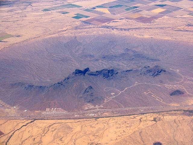 Picacho Peak from the air, on...