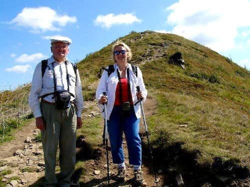 Near summit of Mount Bukowe Berdo (1313 m)