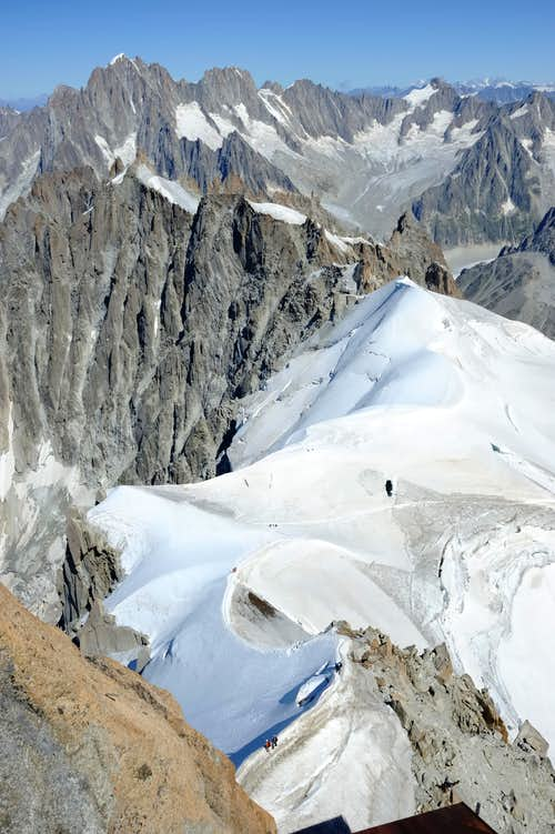 view from aiguille du midi
