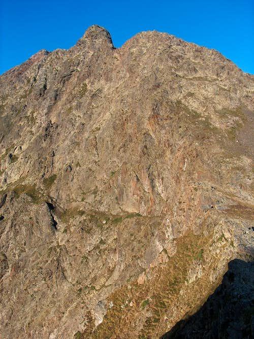 The Parraouis (Lustou N ridge) seen while ascending Pic d'Estos
