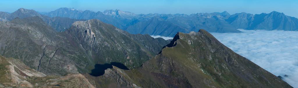 North panorama from the top of the Pic d'Estos