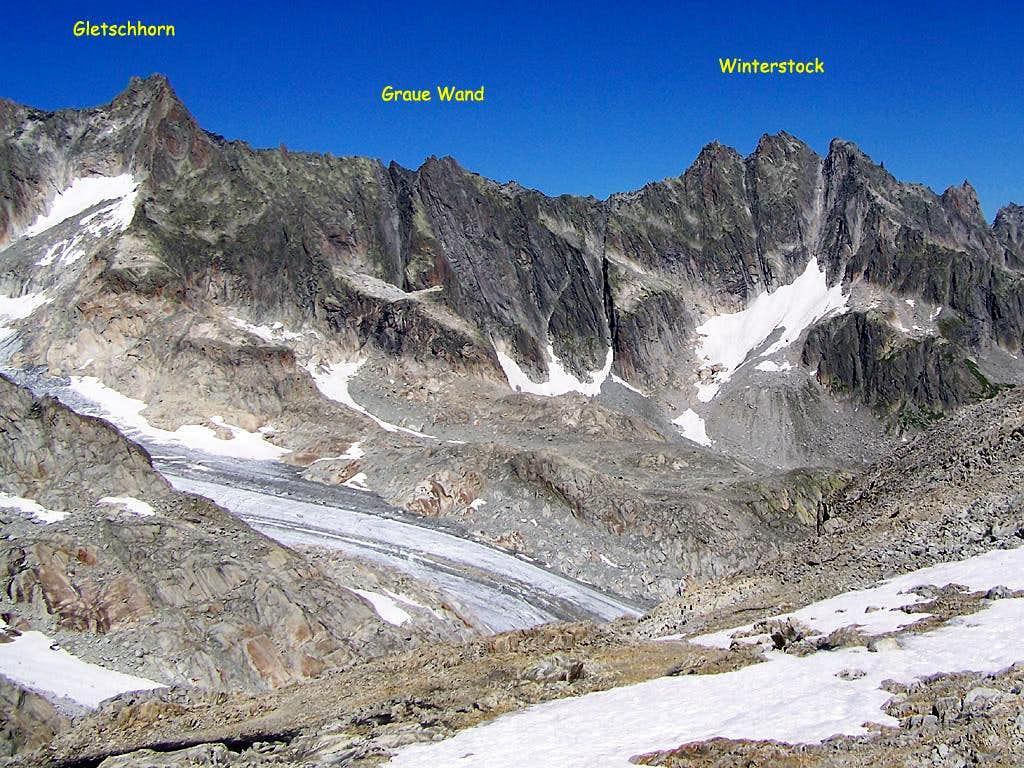 Graue Wand- Winterstock