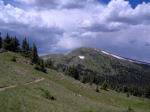 Clouds Building over Chapin Pass Trail