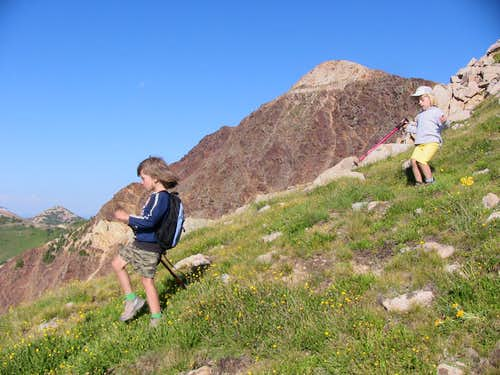 Hiking and scrambling with kids