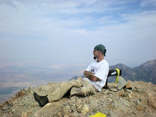 Kicking back on the summit