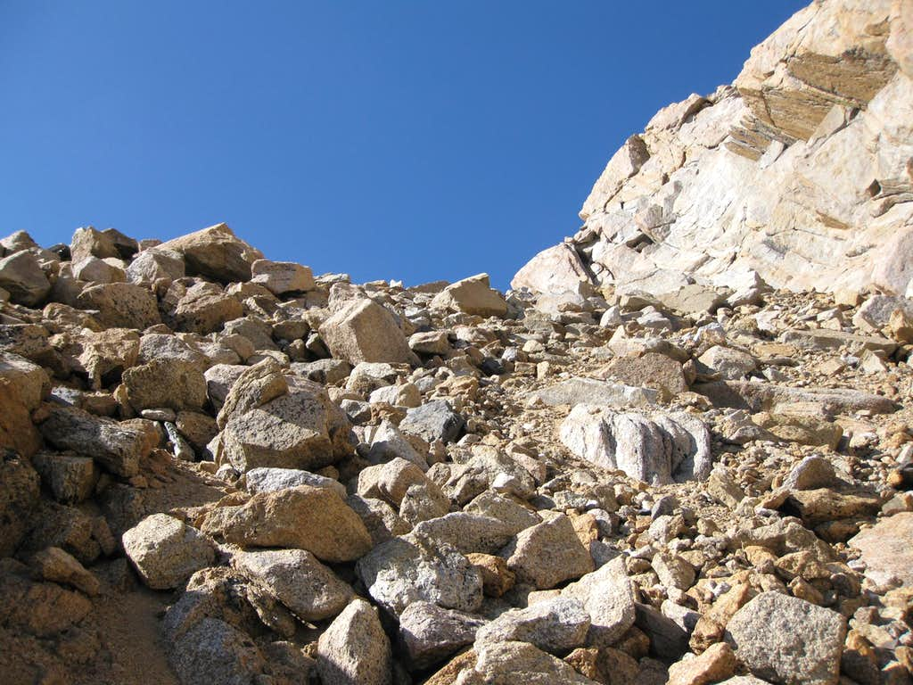 NW Notch below Mt. Humphreys