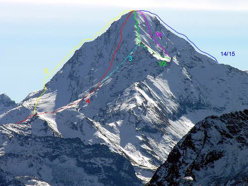 ALL THE ROUTES OF PUNTA TERSIVA (21) (Route)