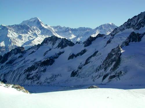 Grand Combin on the Left @...
