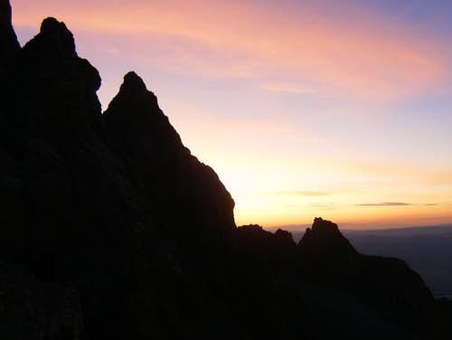 Sunrise in North Garnet Canyon