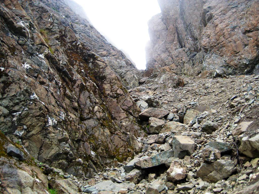 H'kusam Mountain Summit Ridge Gully