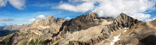 Panorama from Cime Cadine