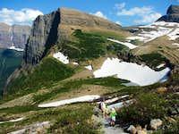 Grinnell Glaicier ascending 0.2 miles, Glaicier NP