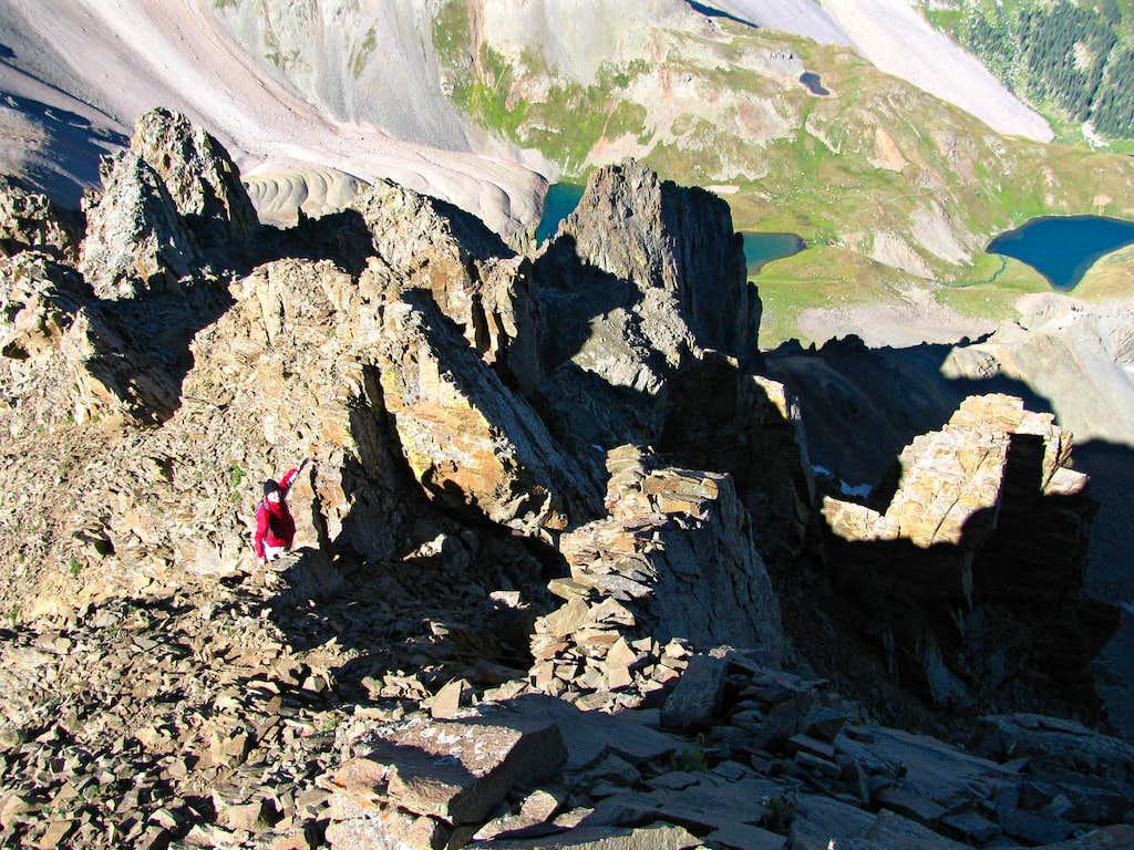 Southwest ridge over Blue Lakes