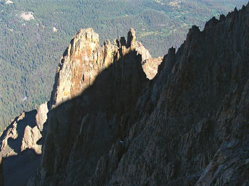 West ridge spires