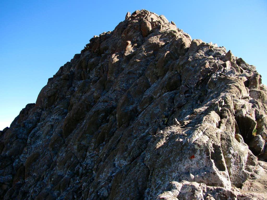 Final scramble to the summit