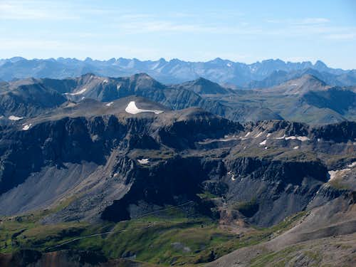 View southeast from Sneffels summit