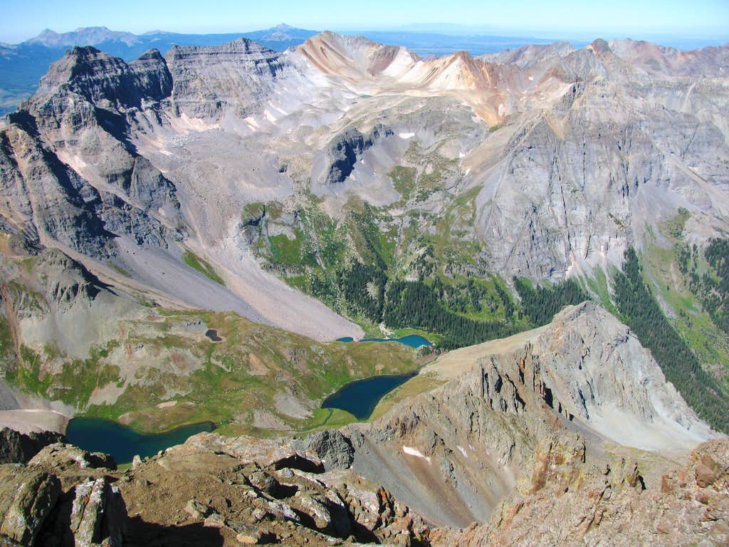 Blue Lakes Basin from Sneffels summit