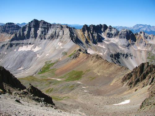 Gilpin Peak from Lavender Col
