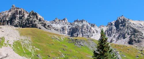 Ridge east of Mount Sneffels