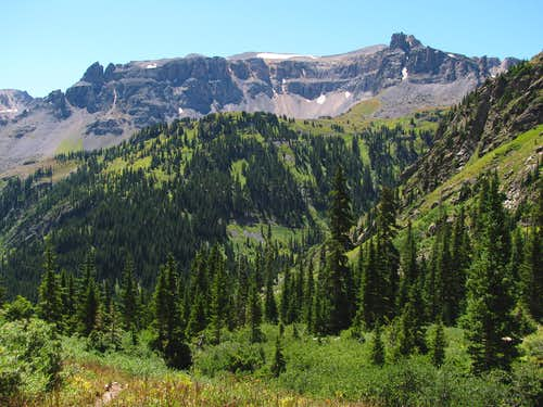 Mountain south of Yankee Boy Basin road