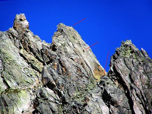 Climbers on the Hochschijen