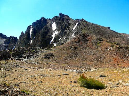 Black Cat Peak from the saddle, 11,120