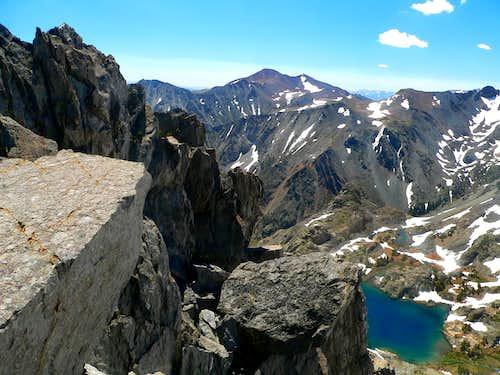 Southeast to Mt. Warren, 12,327' from Black Cat Peak