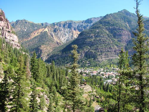 Ouray from Box Canyon