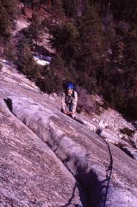 Climbing in the Needles...