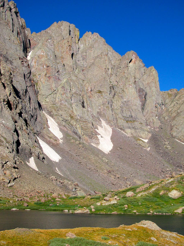 Crestone Peak over Upper South Colony Lake