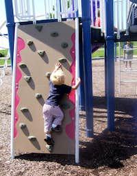 Aedan's First Climb!