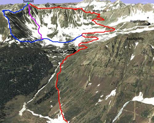 Daisy Pass Route (SE Slopes)