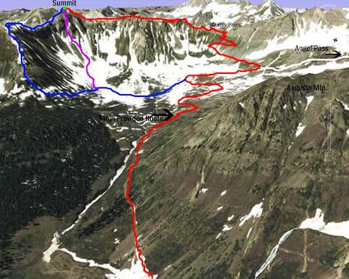 Daisy Pass Route (SE Slopes)