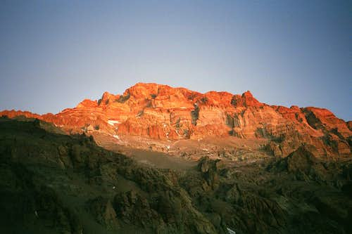 Aconcagua at Sunset