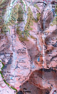 Map of Pic d Estos