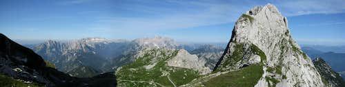View to Italian Julian Alps