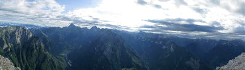 Rombon summit panorama - Koritnica and Bavsica