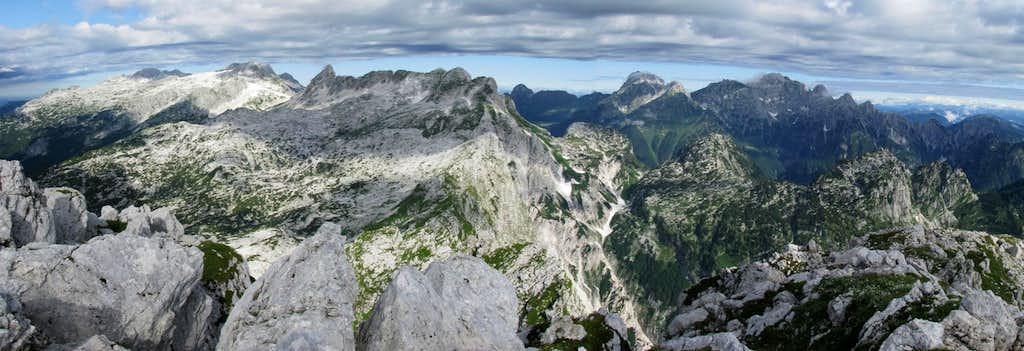 Rombon summit - Kanin and Montaź