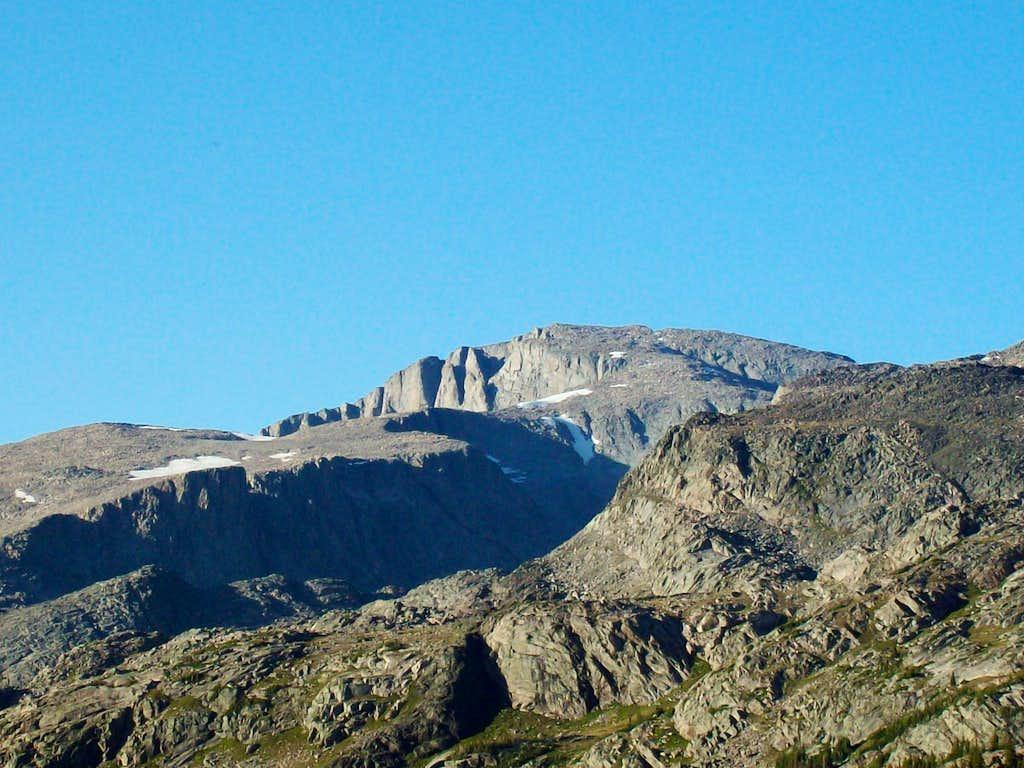 View of Cloud Peak from Lake Helen