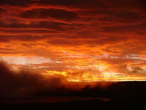 Inca Trail Sunset. Ecuador.