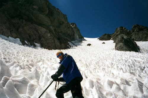 Below the Couloir on Cuerno