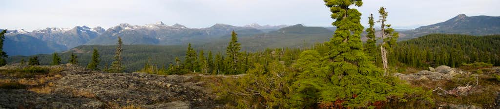 Forbidden Plateau from Mt Drabble