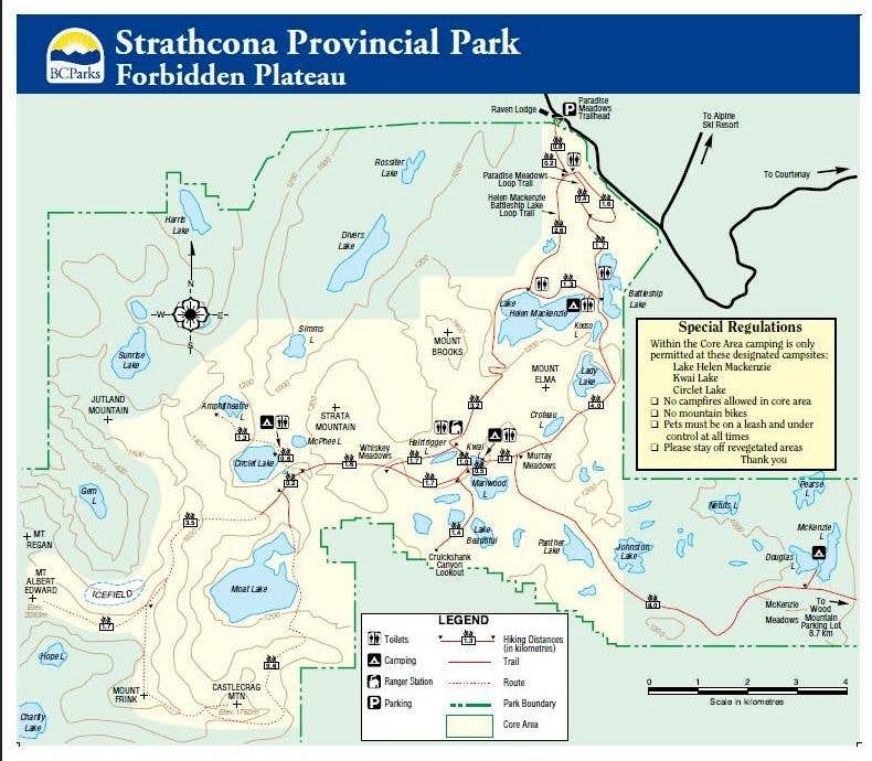 Forbidden Plateau Trail Map