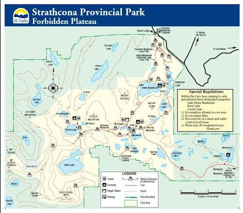 Forbidden Plateau Trail Map