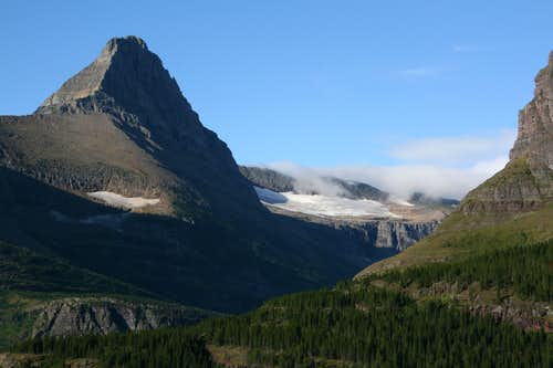 Swiftcurrent Glacier and Mount Grinnell