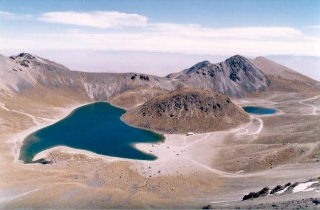 Crater lakes from the ridge...