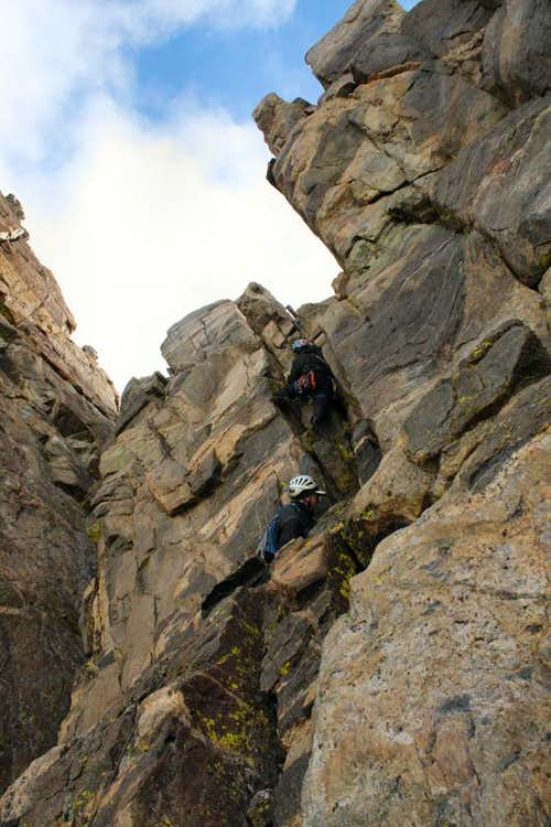 Crux of Turret Peak\'s West Ridge