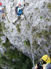 Ferrata Gamma 1 - Tibetan bridge